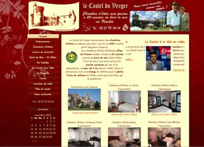 Site internet du Castel du Verger