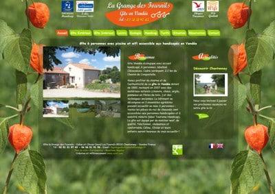 Site internet du gîte de la Grange des Fournils