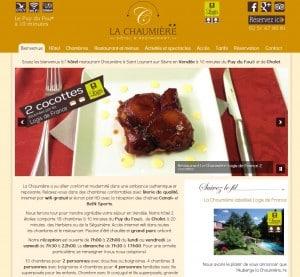 Hôtel la Chaumière - Création d'un nouveau site internet