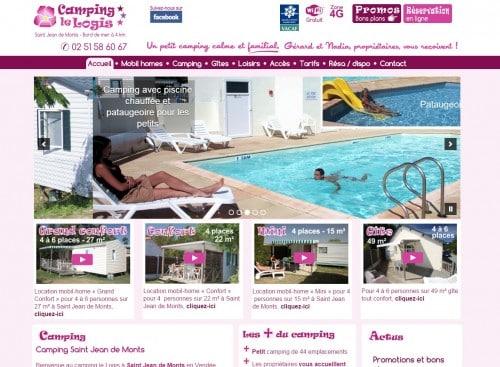 Création du site internet pour le camping le Logis à Saint Jean de Monts en Vendée