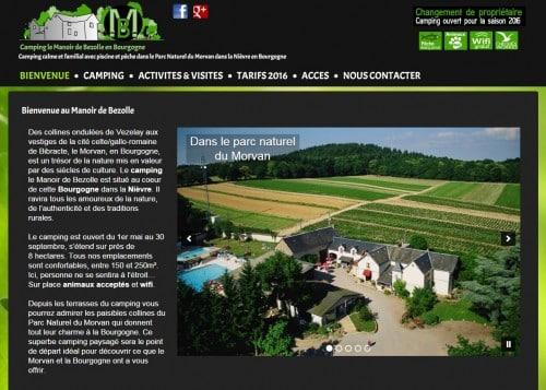 Création du site du camping le Manoir de Bezolle
