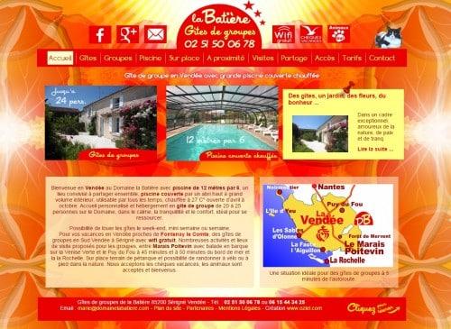 Création de site internet pour les gîtes du Domaine la Batière en Vendée