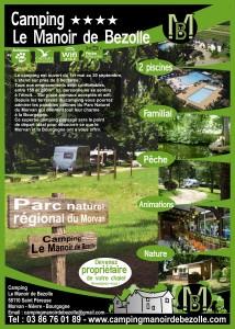 Documentation publicitaire flyer pour un camping