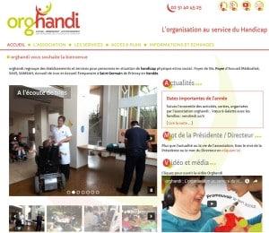 Création du site internet orghandi - Etablissements et services pour personnes en situation de handicap