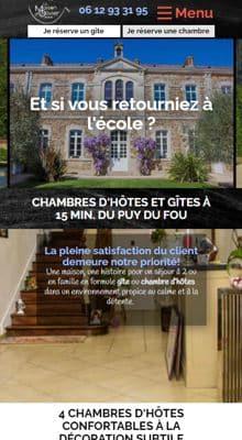 Site web responsive de conciergerie Homeservices972