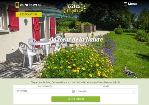 Création du site internet sur mesure pour les Gîtes de l'Hopiteau proches du Puy du Fou