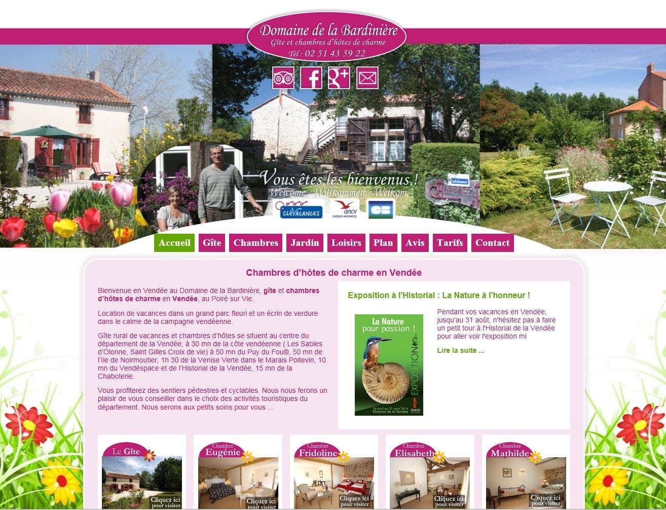 Création du site internet du Domaine de la Bardinière