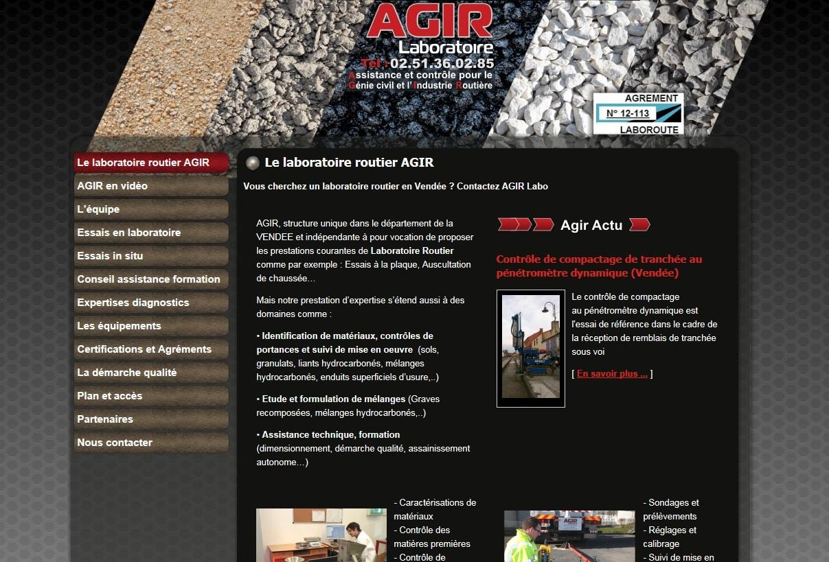 Référencement du laboratoire routier AGIR