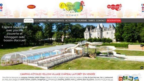 creation site camping chateau la foret 4 étoiles en Vendée