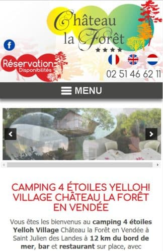 creation site internet mobile pour camping chateau la foret