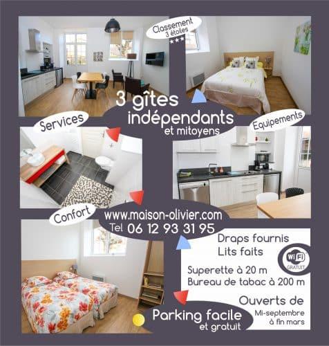 Flyer logo pour chambres d'hôtes maison d'Olivier