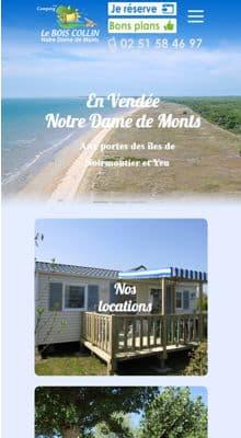 Création d'un site internet pour camping en Vendée