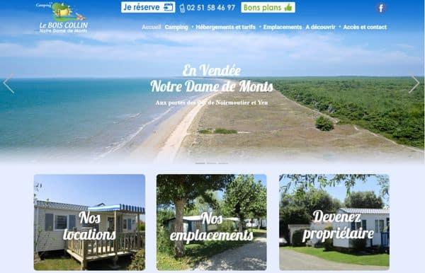 Création de site internet pour camping
