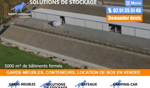 Construction de site internet sur mesure pour Monts Stockage